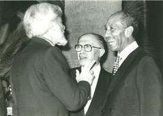 With Sadat and Begin. 1979