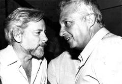 With Ariel Sharon, 1981