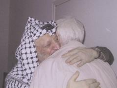 """Living shield"" for Arafat at the Mukataah, 2004"